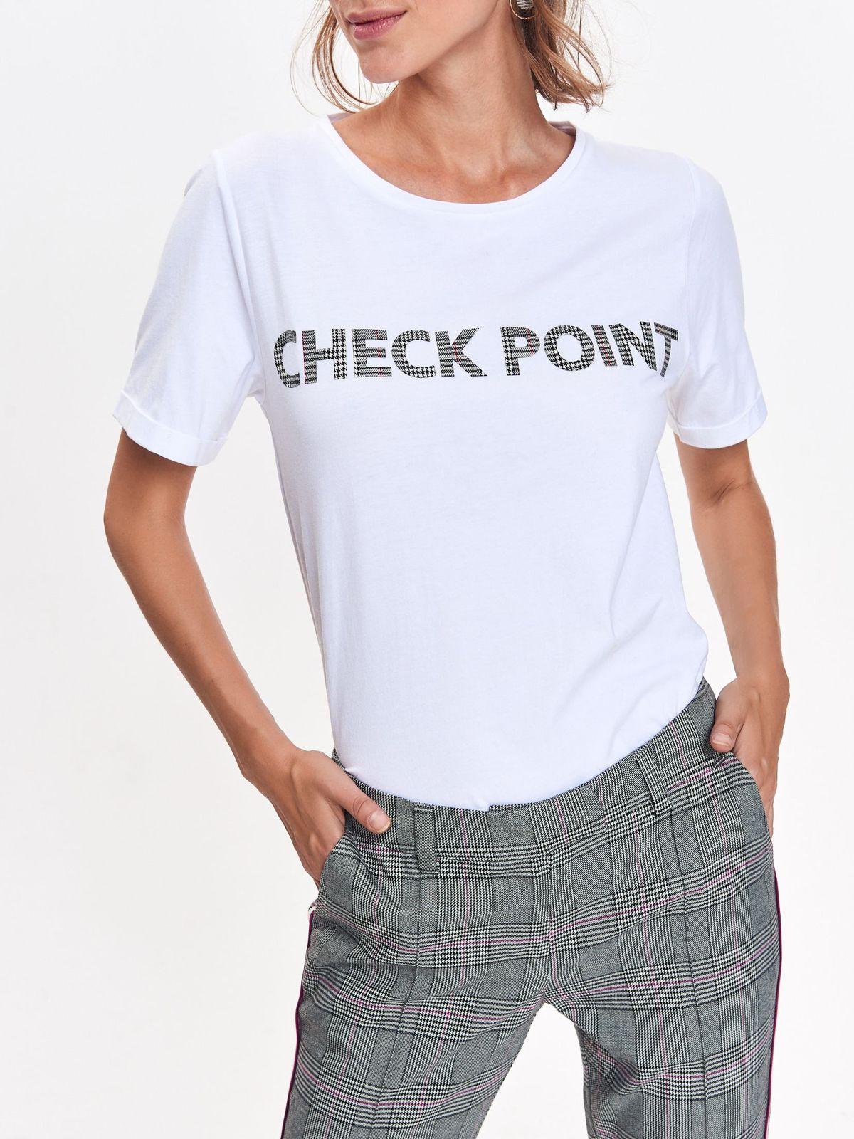 991431c57c03 Tričko s krátkym rukávom biele s čiernym nápisom