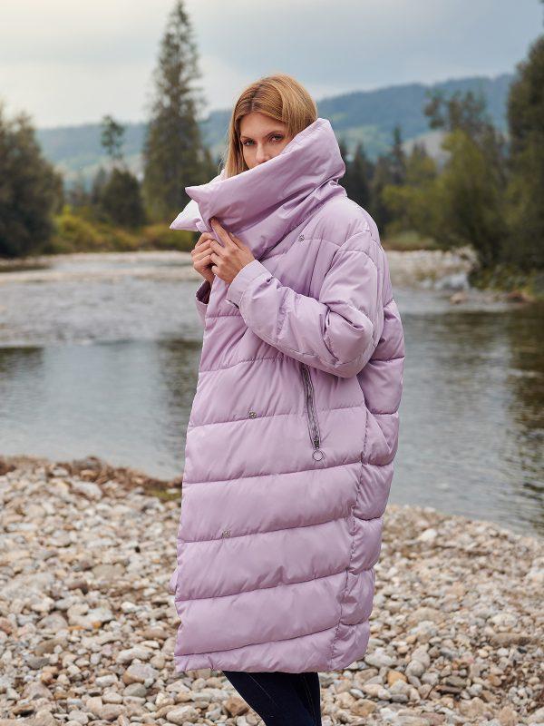 91e8cae3295e Zimná bunda dlhá fialová