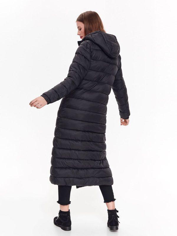 0a28ce5fd Bunda dlhá čierna páperová s kapucňou | Dámske oblečenie online ...