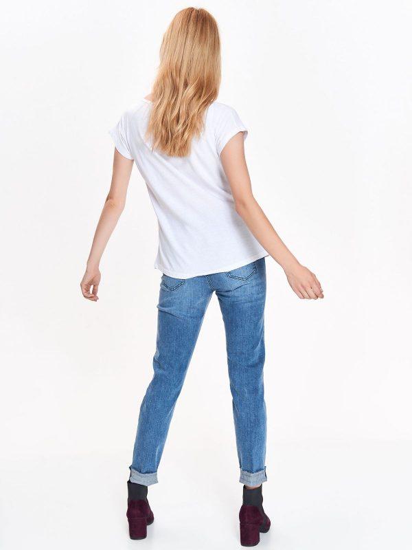 69529ad5e435 Tričko biele krátky rukáv s potlačou srdca vpredu