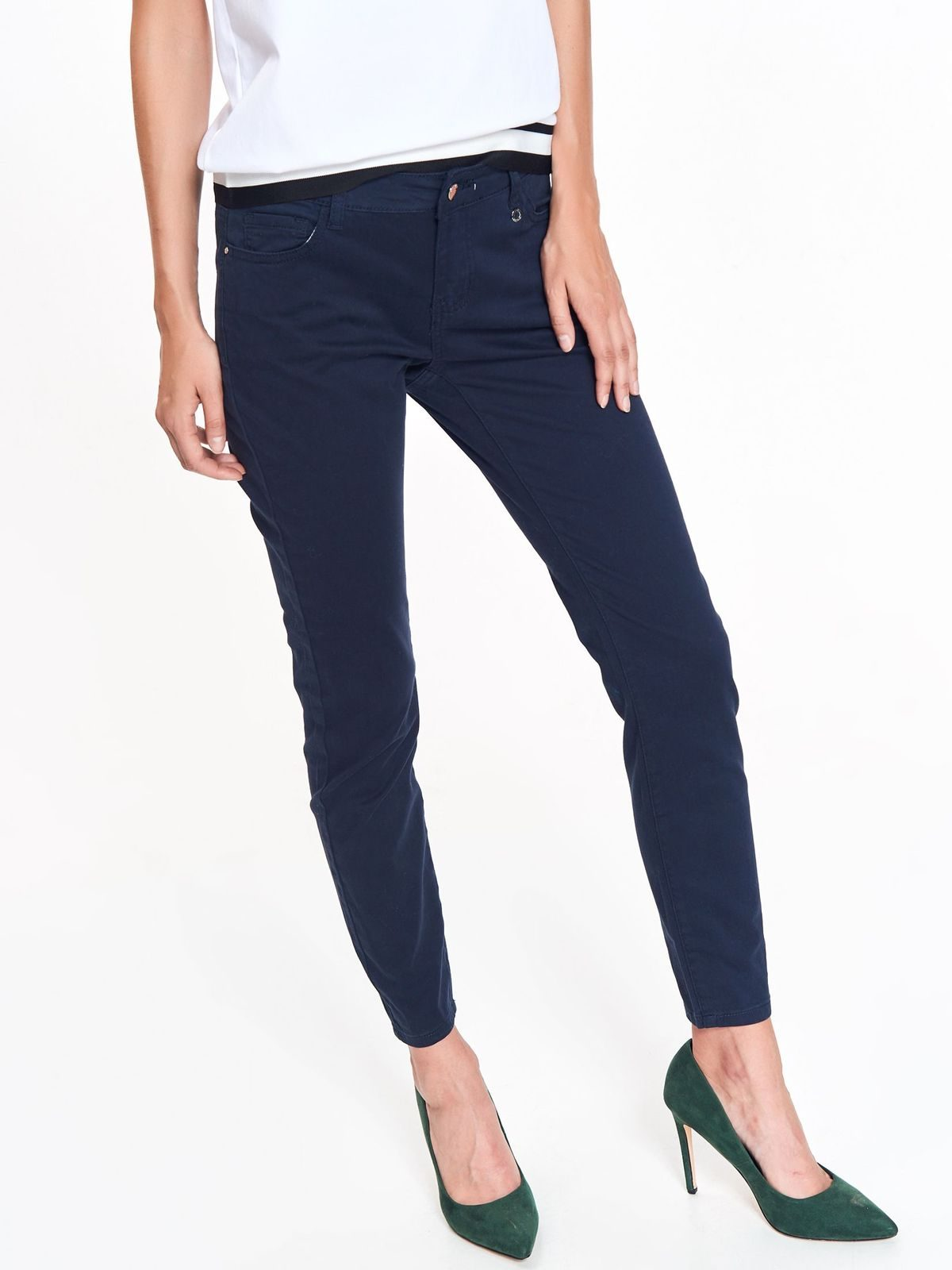 faf3319dd0ac Modré bavlnené nohavice