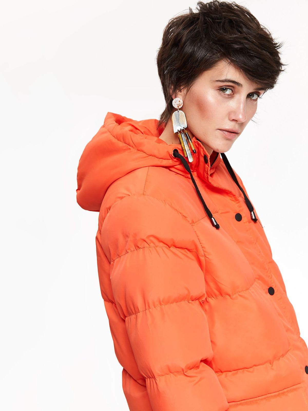Zimná bunda oranžová s kapucňou  dd4a2da6efa