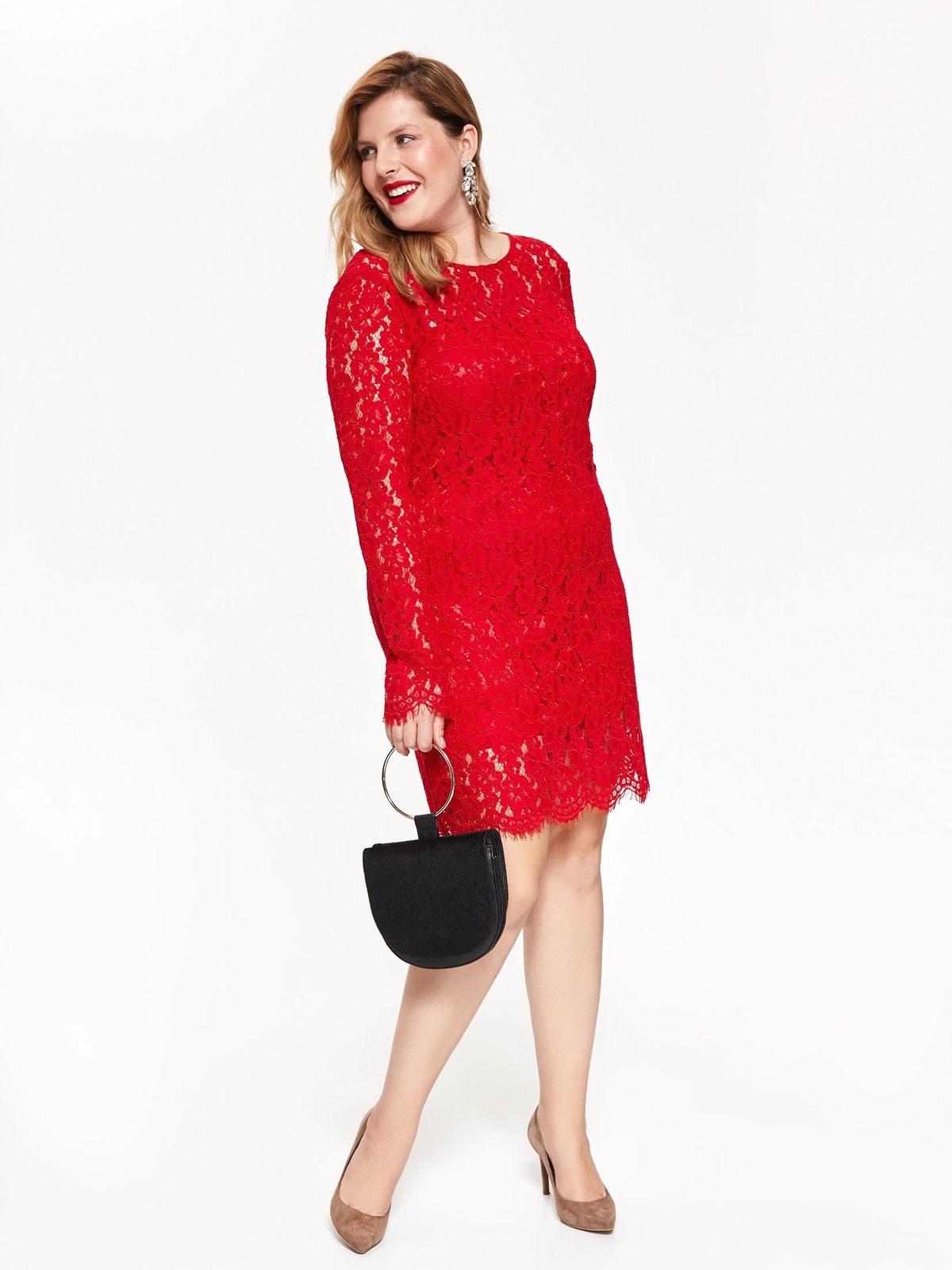 6c1ec0753889 Červené čipkované šaty